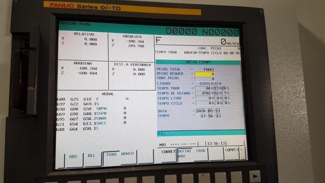 Torno Romi CNC G-550 Usado - VENDA SUSPENSA
